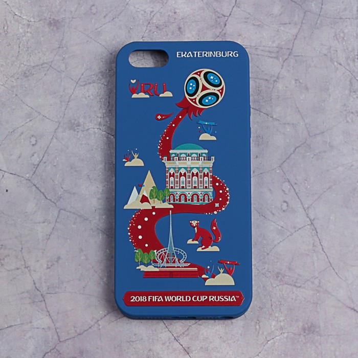 Чехол FIFA WORLD CUP RUSSIAN 2018, iPhone 5/5S/SE, матовое покрытие