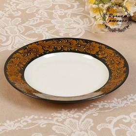 "Plate ""Khokhloma.Premium"", D=20 cm, the highest category"