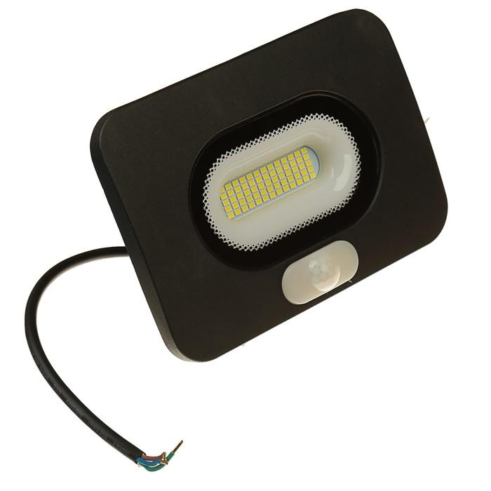 Светодиодный прожектор с датчиком движения WOLTA, 30 Вт, 2400 Лм, 5500 K,WFL-30W/05s
