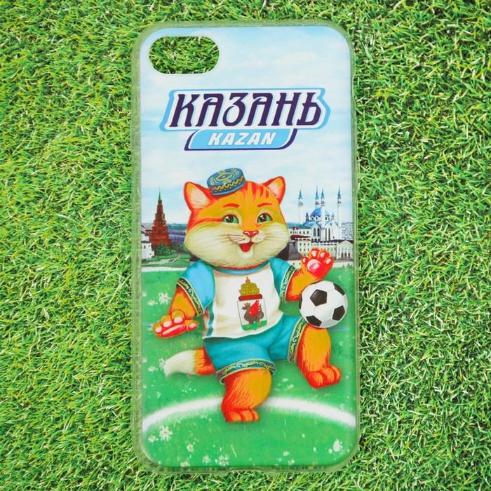 Чехол для iPhone 7 телефона «Казань» (кот), 7 х 14 см
