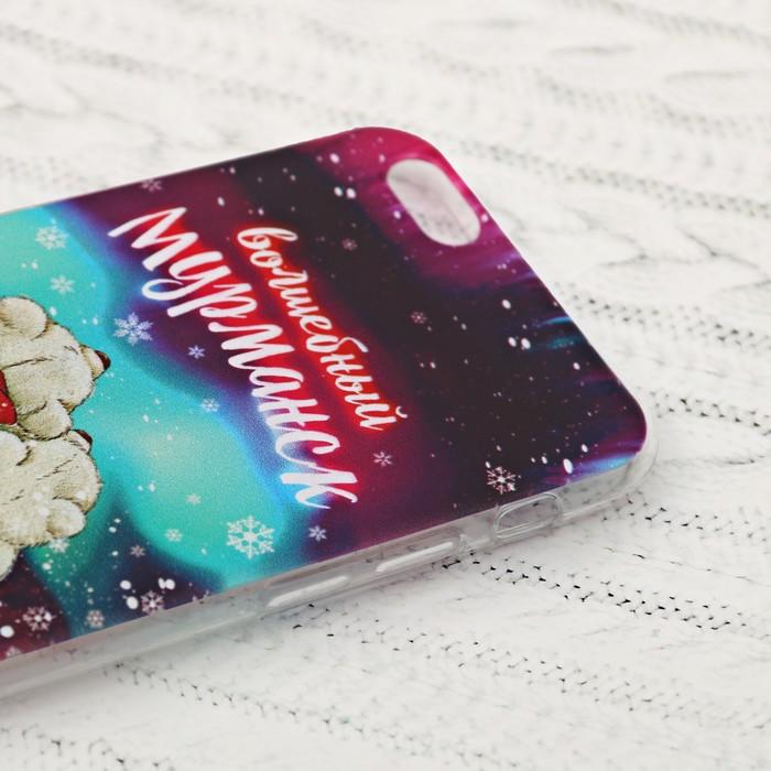 Чехол для iPhone 6 телефона «Мурманск» (мишки), 7 х 14 см