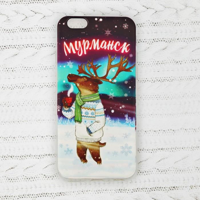 Чехол для iPhone 6 телефона «Мурманск» (олень), 7 х 14 см