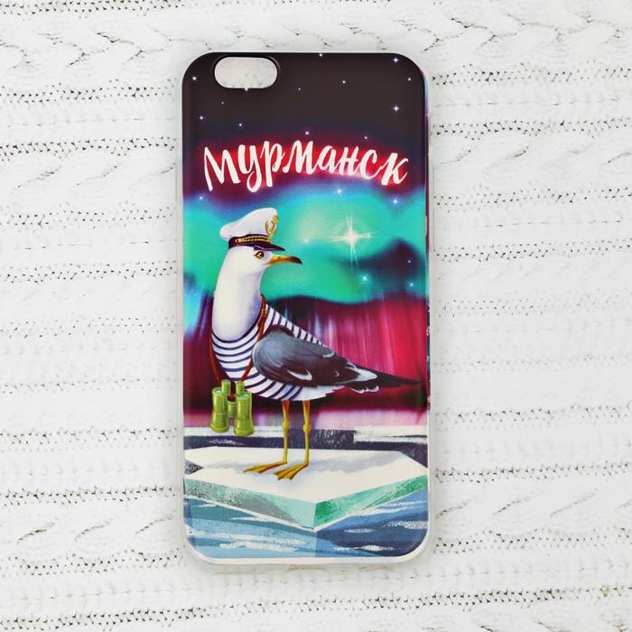 Чехол для iPhone 6 телефона «Мурманск» (чайка), 7 х 14 см