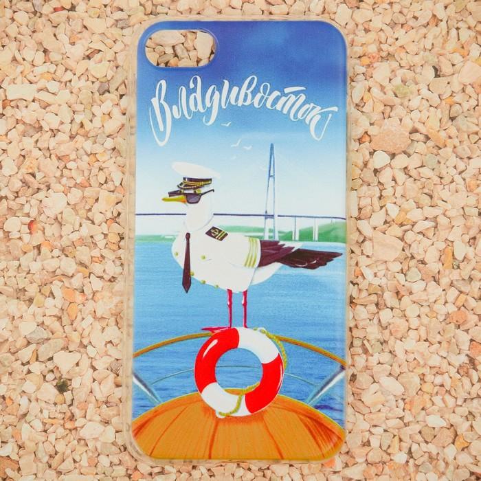 Чехол для iPhone 7 телефона «Владивосток» (чайка), 7 х 14 см