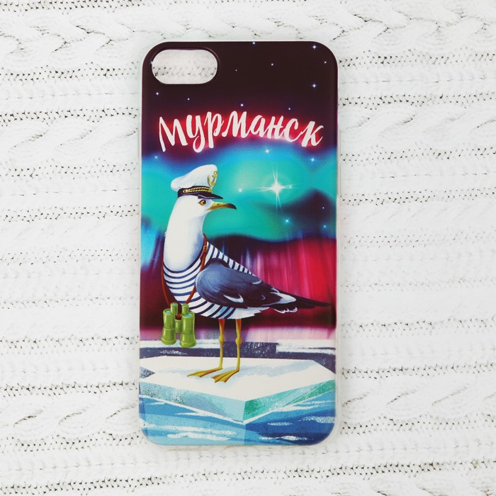 Чехол для iPhone 7 телефона «Мурманск» (чайка), 7 х 14 см