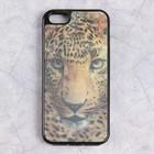 Чехол Luazon Леопард для iPhone 5/5s, силиконовый, голограмма