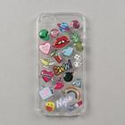 """Чехол LuazON """"Эмодзи"""" для телефона iPhone 5/5s, силиконовый, прозрачный"""