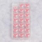 Чехол Luazon Сердечки для iPhone 5/5s, силиконовый, прозрачный