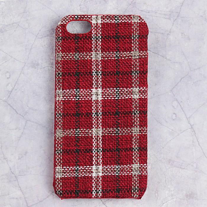 Чехол пластиковый Luazon Клетка для iPhone 5/5s, красный