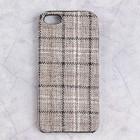 Чехол пластиковый Luazon Клетка для iPhone 5/5s, серый