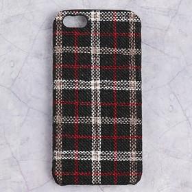 Чехол пластиковый Luazon Клетка для iPhone 5/5s, чёрный Ош