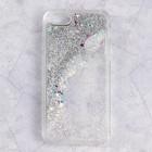 Чехол пластиковый Luazon Блестящий для iPhone 5/5s, переливающийся, серый
