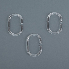 A set of rings for curtains 12 PCs, color: transparent