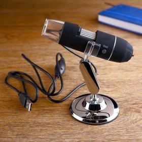 Цифровой электронный микроскоп 500х, чёрный, 7*12*11см Ош