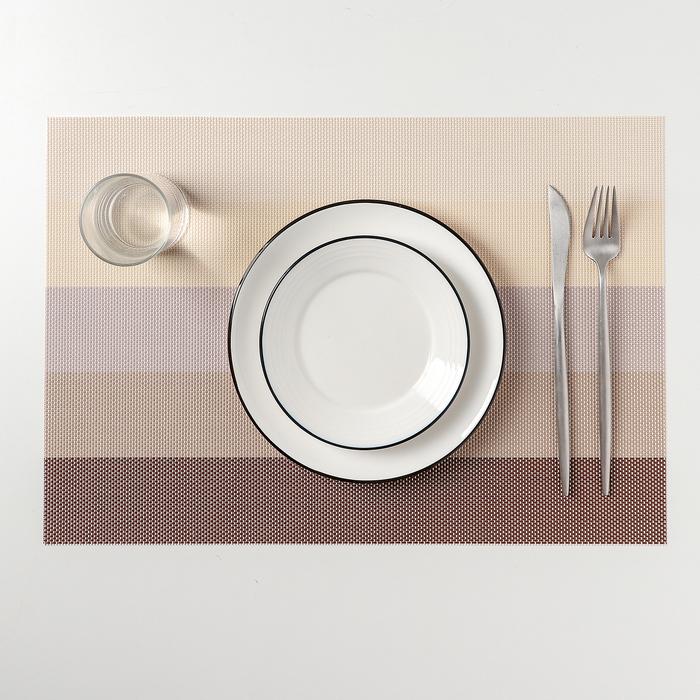 """Салфетка кухонная 45х30 см """"Пять полос"""", цвет бежевый"""