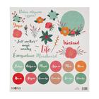 """Бумага для скрапбукинга """"Цветочный ежедневник"""" 30,5х30,5 см плотность 190гр/м2"""