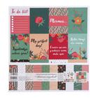 """Набор бумаги для скрапбукинга(12 лист.)""""Цветочный ежедневник""""30,5х30,5см плотность 190гр/м2"""