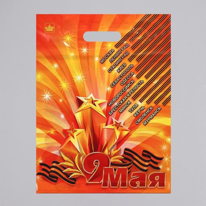 """Пакет """"Девятое мая"""", полиэтиленовый с вырубной ручкой, 31 х 40 см, 60 мкм - фото 242061154"""