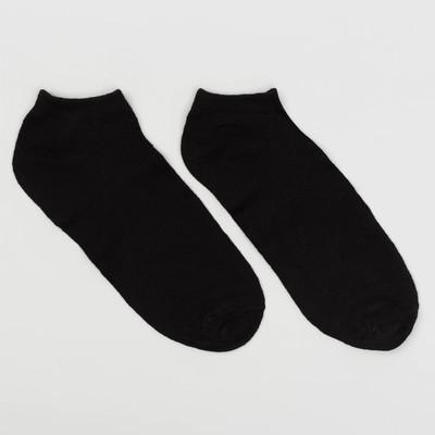 Носки мужские укороченные, цвет чёрный, размер 27-29 (размер обуви 42-45)