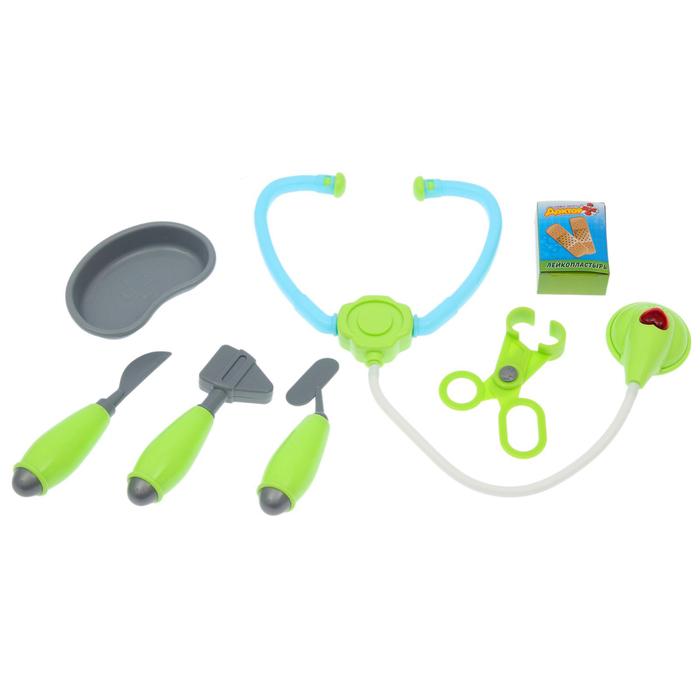 Набор доктора «Супер доктор-1», 7 предметов, световые и звуковые эффекты, в пакете