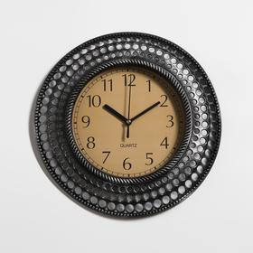 """Часы настенные, серия: Интерьер, """"Бетмаль"""", хром, d=30 см"""