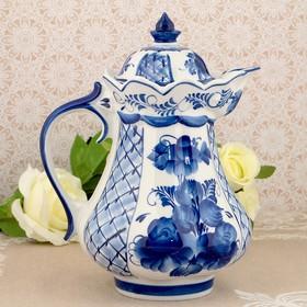 "Jug ""Inspiration"", Gzhel, porcelain, 2s"