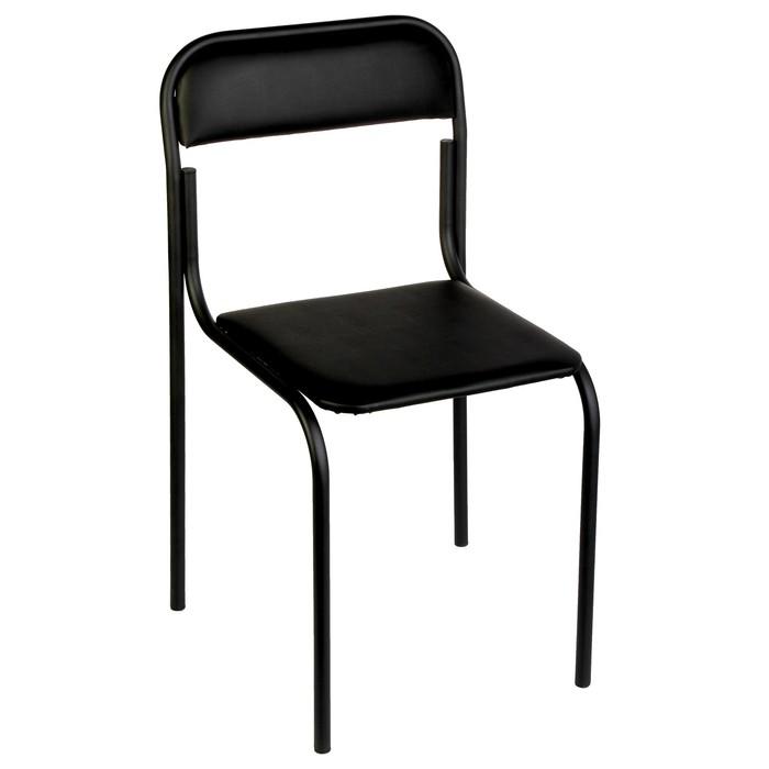 Стул Аскона, искусственная кожа, чёрный, каркас черный
