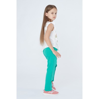 Брюки для девочки, рост 140 см, цвет мята