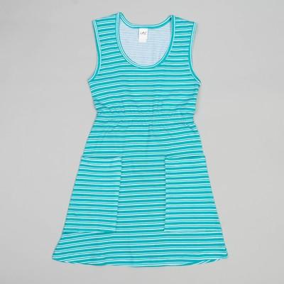 Сарафан для девочек, рост 104-110 (30) см, цвет голубой