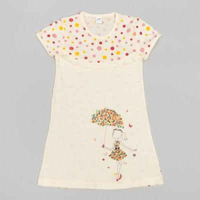 Сорочка для девочек, рост 98-104 (28) см, цвет бежевый