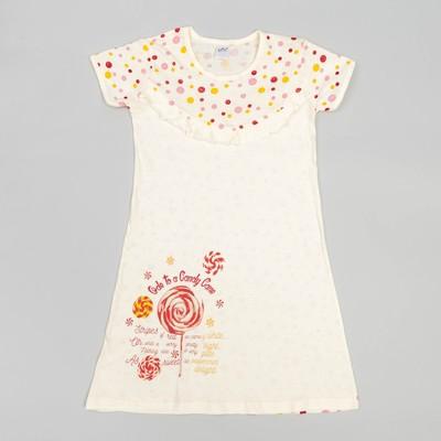 Сорочка для девочек, рост 134-140 (38) см, цвет бежевый 10243-1