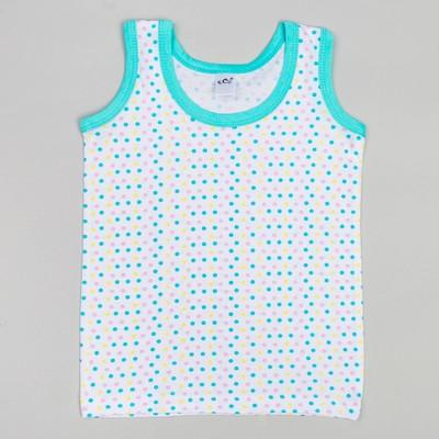 Майка для девочек, рост 98-104 (28) см, цвет голубой 10824-11