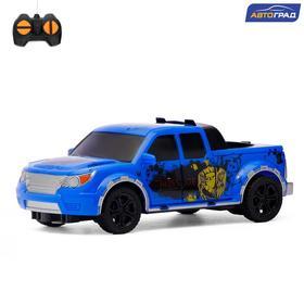Машина радиоуправляемая «Пикап», работает от батареек, цвет синий