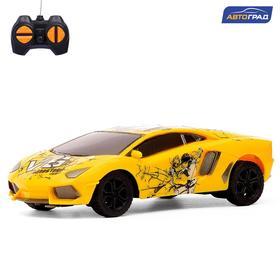 Машина радиоуправляемая «Ламбо», работает от батареек, цвет жёлтый