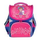 Ранец GoPack 5001S, 34 х 26 х 13 см для девочки, голубой/розовый