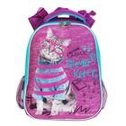 Рюкзак каркасный Rachael Hale 531 Clever Kitty, 38 х 29 х 16 см см, сиреневый