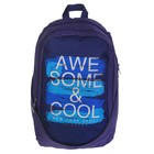 Рюкзак молодёжный GoPack 120 GO-2, 43 х 30 х 21,5 см, тёмно-синий/голубой