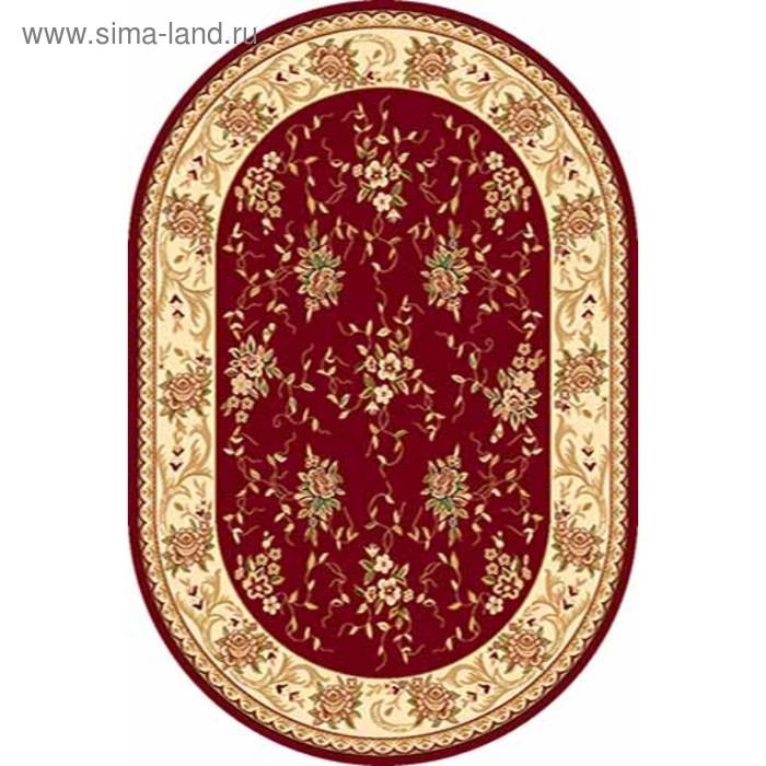 Ковёр Хит-Сет ПП VALENCIA 5455, 0,6*1,1 м, овальный, RED