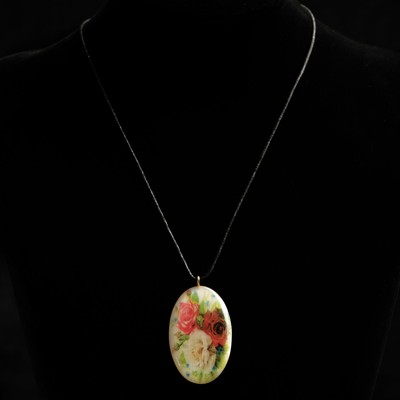 Кулон «Роза», 2,5х4,5 см, селенит