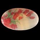 Брошь «Розы», 2,8х4,5 см, селенит
