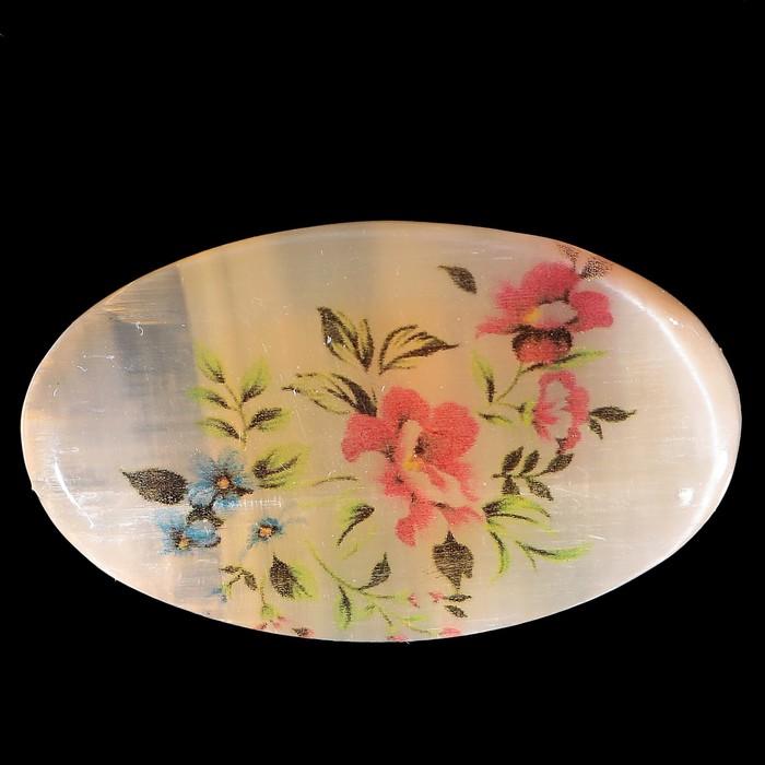 Брошь «Цветы», 2,8х4,5 см, селенит - фото 303921351