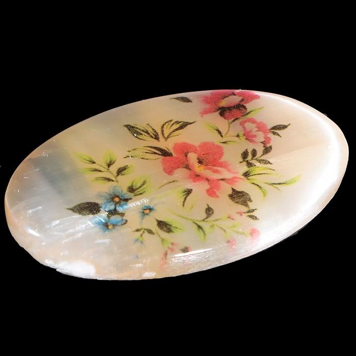 Брошь «Цветы», 2,8х4,5 см, селенит - фото 303921352