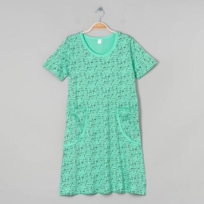 Платье домашнее женское, цвет зелёный, размер 50