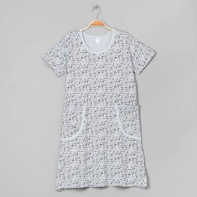 Платье домашнее женское, цвет серый, размер 46