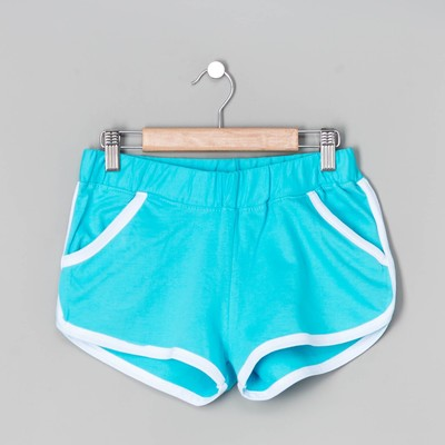 Шорты женские, цвет голубой, размер 44
