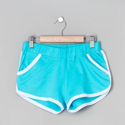 Шорты женские, цвет голубой, размер 46