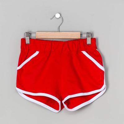 Шорты женские, цвет красный, размер 44