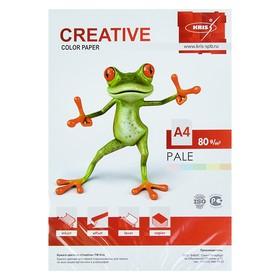 Бумага цветная А4, 250 листов «Креатив» Пастель, 5 цветов, 80 г/м²