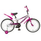 """Велосипед 18"""" Novatrack Novara, цвет серебристый"""