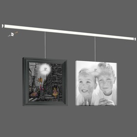 Система для подвеса картин ArtiTeq: настенный рельс 'Клик' 200 см нагрузка 30 кг/м (возможна покраска) белый Ош